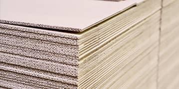 Láminas de cartón corrugado